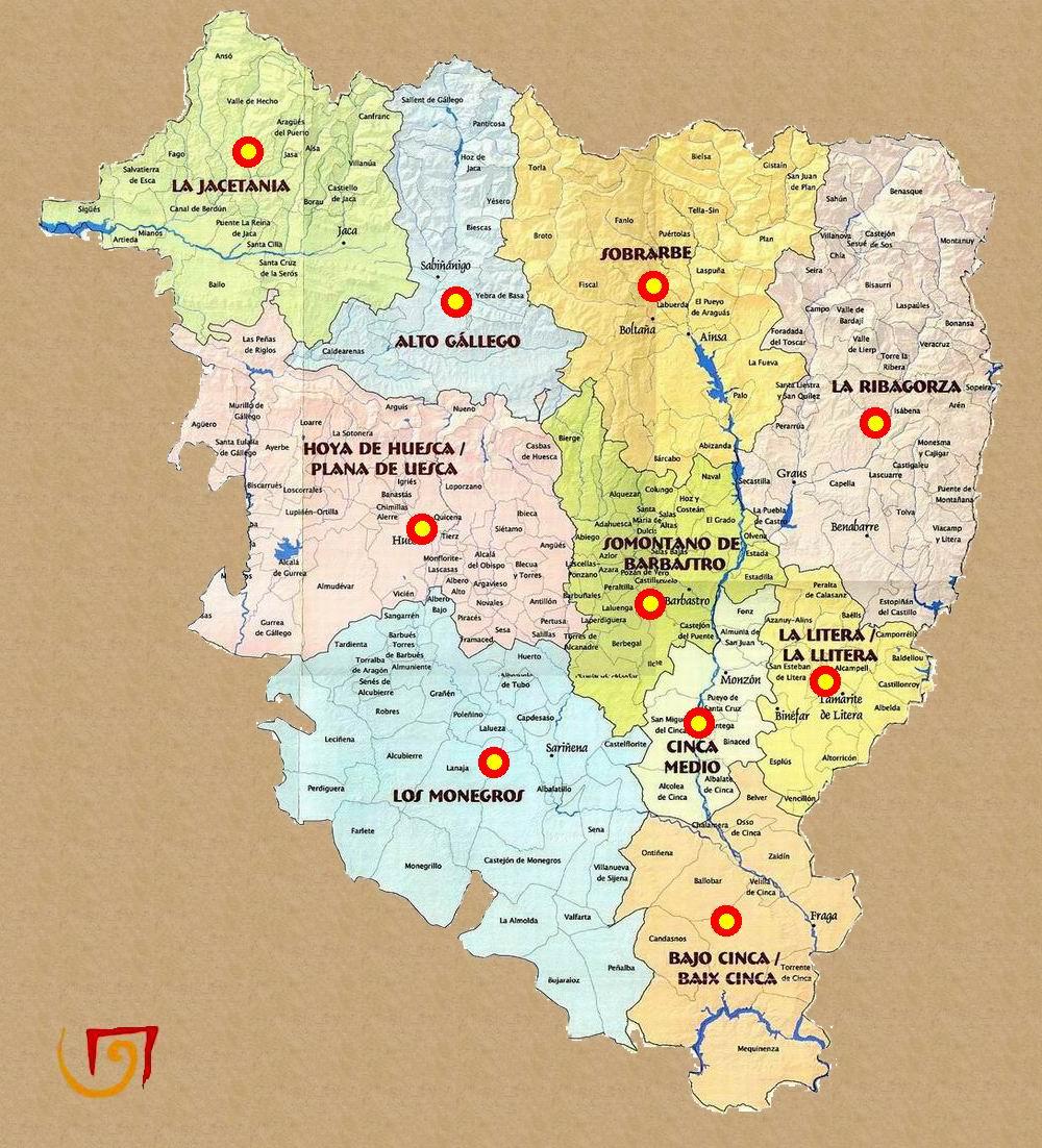 Mapa De Huesca Pirineos.Rutas Romanicas Por Huesca A Garcia Omedes